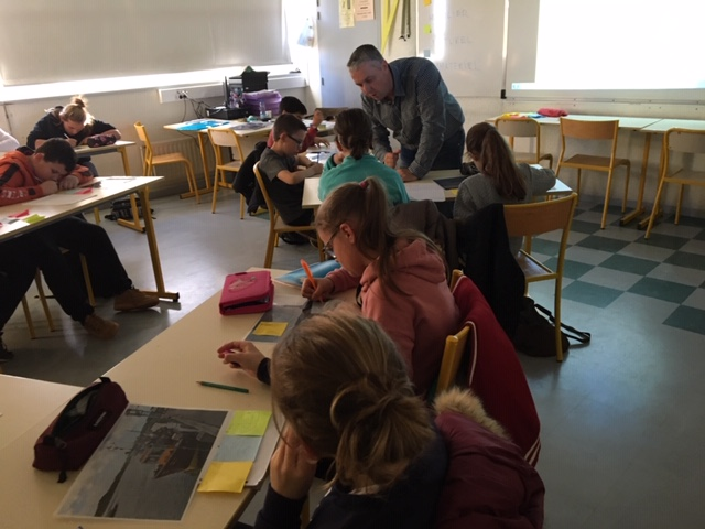 En classe - Collège de la Baie de Somme