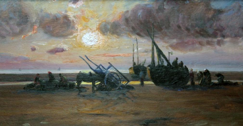 C. Roussel - soleil couchant Musée d'Opale - Berck