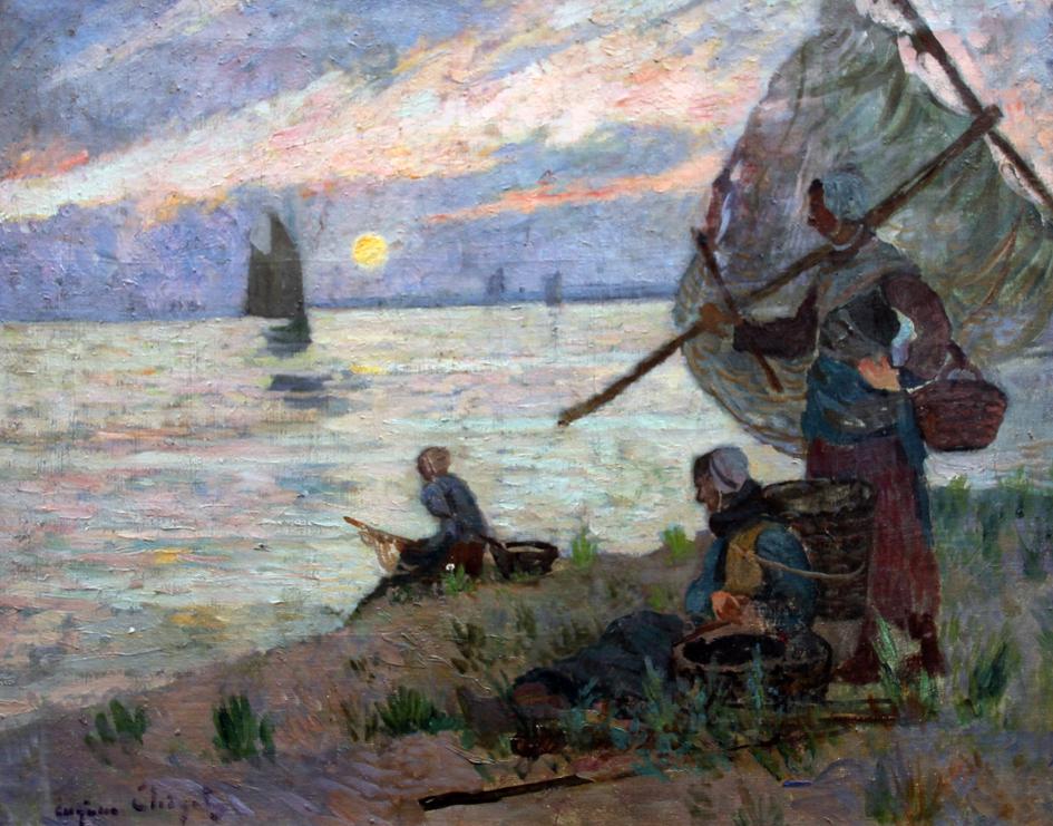 E. Chigot - l'attente - Musée d'Opale - Berck
