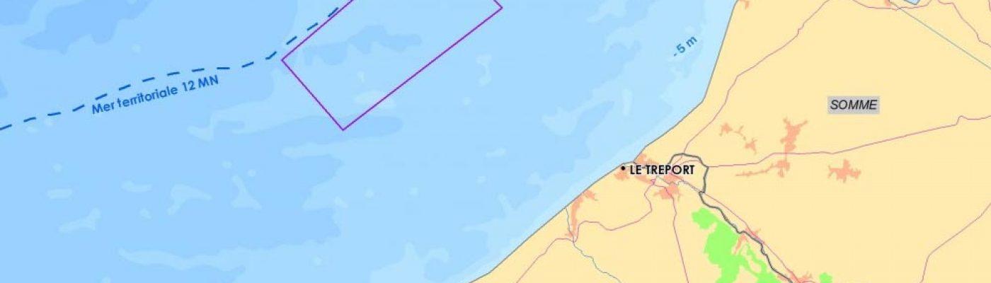 Étude d'éoliennes en mer au large du Tréport